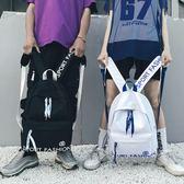 高中學生背包時尚潮流青少年校園帆布雙肩包  糖糖日系森女屋