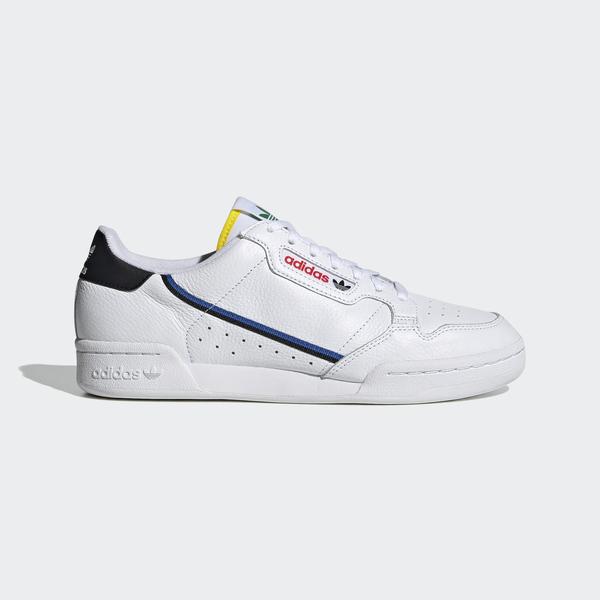 Adidas Continental 80 [FY2365] 男女鞋 運動 休閒 柔軟 復古 奧運五環色 愛迪達 白 彩