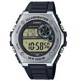 CASIO 卡西歐 手錶 專賣店 MWD-100H-9A 數字電子錶 男錶 橡膠錶帶 防水100米 LED照明 MWD-100H