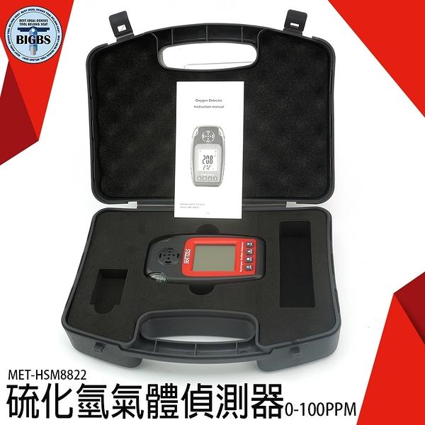 《利器五金》中毒報警探測儀 背光顯示 蜂鳴聲警報 MET-HSM8822 硫化氫氣體偵測器 偵測器