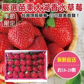 【果之蔬】嚴選苗栗大湖香水草莓X1盒 【單盒18-20顆/400克±10%/含盒重】