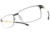 Ic! Berlin光學眼鏡 TORU N. BLACK (霧藍) 紳士必備方框 薄鋼眼鏡 # 金橘眼鏡