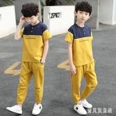 兒童裝男童夏裝套裝棉麻短袖2020新款夏季中大童洋氣兩件套夏款潮 TR768『寶貝兒童裝』