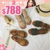 任選2雙788涼鞋日系森女風小清新軟皮低跟休閒涼鞋【02S9185】