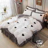 床包組 公主風床裙四件套全棉純棉網紅被套1.8m少女心床上用品