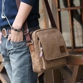 後背包 側背包 MUZEE/牧之逸男包側背包男士包包商務休閒帆布包韓版小背包斜背包 小宅女