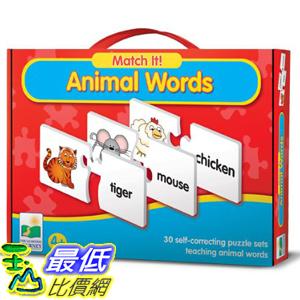 [美國直購] 2016美國暢銷兒童書 Animal Words The Learning Journey Match It!
