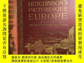 二手書博民逛書店Picturesque罕見Europe Vol. II (Walter Hutchinson ) 大開本 插圖版