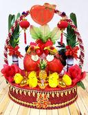 大提籃紅金蔥甘蔗帶路雞-女方嫁妝用品【皇家結婚用品百貨】