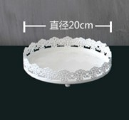 【協貿國際】蛋糕盤圓形點心盤杯子蛋糕展示盤(8寸)