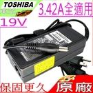 TOSHIBA 19V,3.42A,65W 充電器(原廠)-東芝 變壓器- SATELLITE A85,L10,L15,L20,L25,M30X,M35X,M45