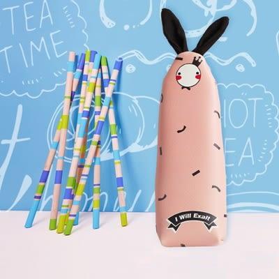 兔子筆袋-可愛文具收納袋PU鉛筆盒4色73pp248【時尚巴黎】