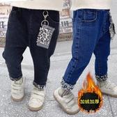 1-5歲秋冬女寶寶保暖長褲子3女嬰兒秋冬款寬松女童加絨加厚牛仔褲 交換禮物