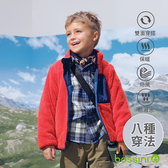 【歲末出清現折300】八合一雙面外套藍-bossini童裝