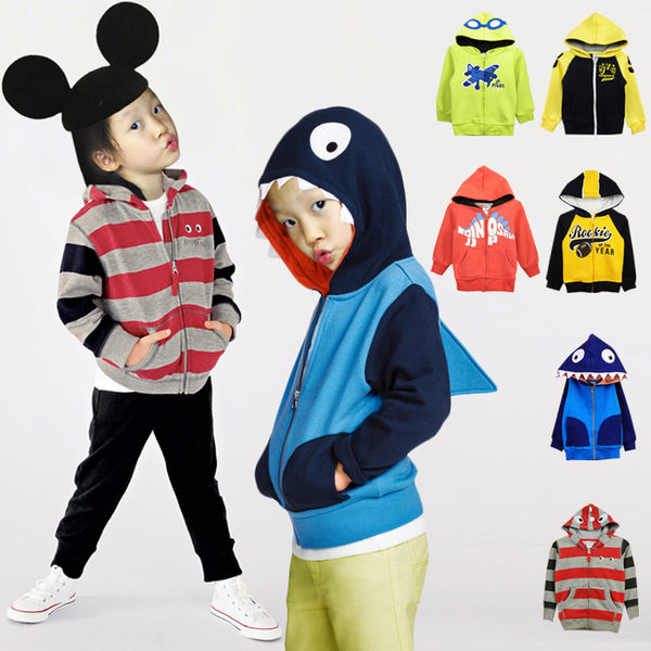 長袖 連帽 保暖 刷毛 外套 Amber 男童 恐龍 飛機 新秀 紐約 造型外套