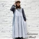 「Winter」亞麻後綁結圓領背心洋裝 (提醒 SM2僅單一尺寸) - Sm2