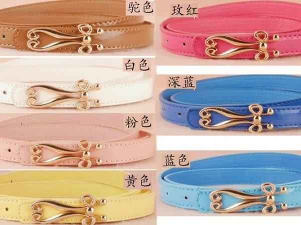 ★草魚妹★H22韓版百搭簡潔小腰帶皮帶,售價158元