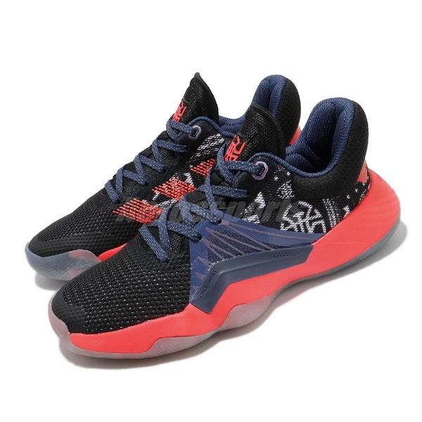 adidas 籃球鞋 D.O.N Issue 1 J 黑 紫 橘 大童鞋 女鞋 米歇爾 Geek Up 系列【PUMP306】 FV7183