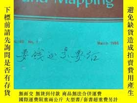 二手書博民逛書店Surveying罕見and Mapping March 198
