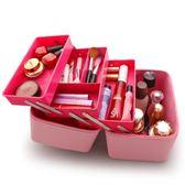 良樂屋 大容量化妝包便攜多功能化妝箱 簡約手提化妝品韓國收納包igo