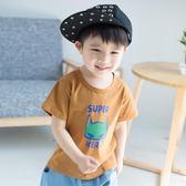 兒童上衣 男童1-3歲純棉短袖T恤兒童5寶寶寬鬆上衣6-8歲韓版休閒潮【韓國時尚週】