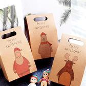 【BlueCat】復古牛皮紙聖誕手繪動物包裝盒/禮物盒