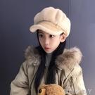 秋冬新款兒童八角帽子女學生韓版毛絨鴨舌帽...