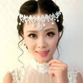雙12聖誕交換禮物店長推薦新娘手工蕾絲花朵珍珠花環頭花影樓結婚頭飾額飾