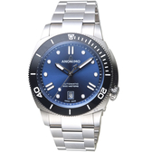 Anonimo NAUTILO Classic義大利海軍機械錶-寧靜藍 AM500909103M01