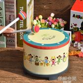 夫樂器鼓兒童小鼓打鼓玩具鼓打擊樂器寶寶鼓嬰兒卡通地鼓 韓語空間