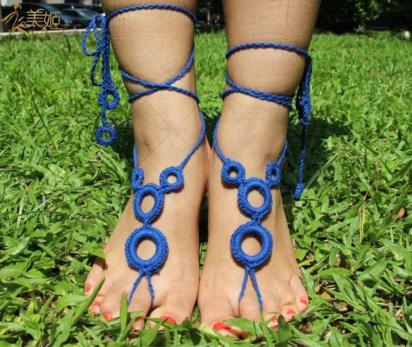 衣美姬♥暢銷款 普普風 圈圈 編織款 腳上飾品 歐美 熱賣款 涼鞋 海灘上 必備