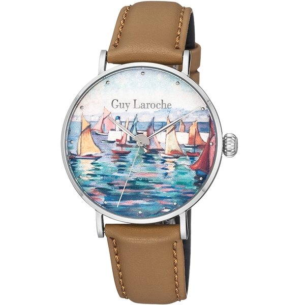 姬龍雪Guy Laroche Timepieces藝術系列腕錶-卡斯特蘭-戴西奧 GA1001RM-01
