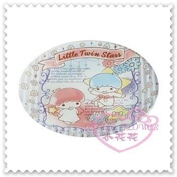 ♥小花花日本精品♥HelloKitty雙子星LITTLE TWIN STAR玻璃圓型盤點心盤水果盤日本製11286707