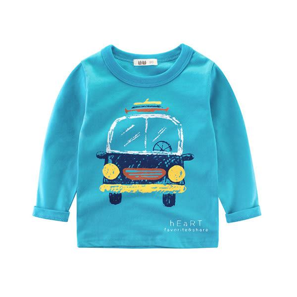 塗鴉童趣小汽車長袖上衣