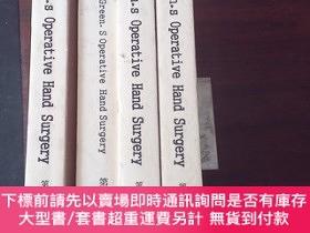 二手書博民逛書店GREEN-S罕見OPERATIVE HAND SURGERY (1~4冊)Y271942 David P.