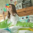 床包被套組 / 雙人加大【遇見朵朵-兩色可選】含兩件枕套,100%精梳棉,奇妙童話時光,戀家小舖