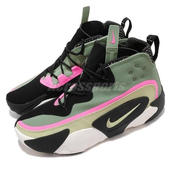 Nike 休閒鞋 React Frenzy 綠 軍綠 黑 男鞋 THE 10TH 緩震中底 運動鞋 【ACS】 CN0842-300