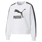 PUMA Nuluxe 女款白色經典LOGO圓領衫-NO.53030602