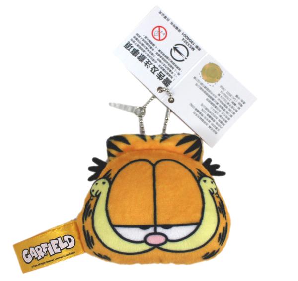 【卡漫城】 加菲貓 防塵塞 吊飾 寛9cm ㊣版 迷你 玩偶 Garfield 絨毛 鍊珠 娃娃 掛飾 耳機塞