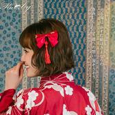 髮飾 蝴蝶結流蘇髮夾-Ruby s露比午茶