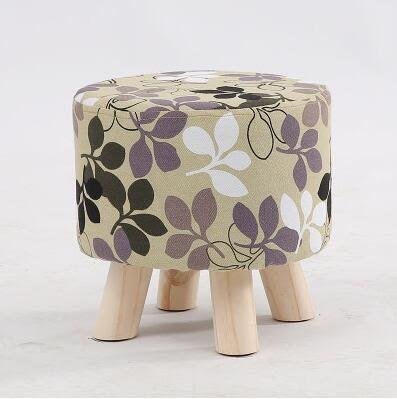 凳子時尚創意客廳沙發擱腳凳實木換鞋小板凳家用茶几圓凳布藝矮凳