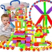 兒童大顆粒塑料拼搭益智拼插積木男女孩寶寶玩具 QW8622【衣好月圓】