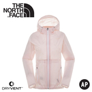 【The North Face 女 DryVent防風防水連帽外套《粉白》】3CHS/夾克/風雨衣/休閒外套