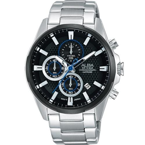 ALBA 競速狂熱運動風計時腕錶/VD57-X081D(AM3343X1)