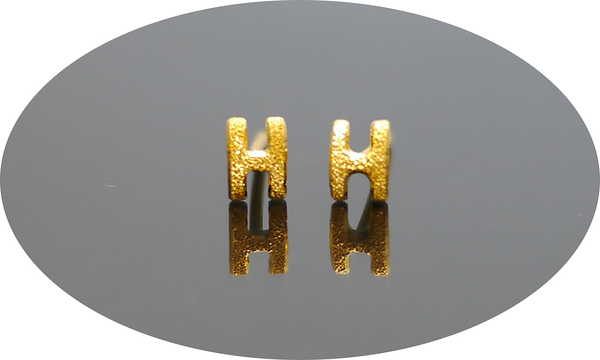 gold 黃金 耳環 金飾 保證卡 重量0.26錢 [ ge 058 ]