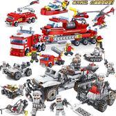 組裝積木兼容拼裝飛機組裝車積木玩具塑料消防車模型人仔男女孩6-12歲