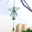 戶外庭院美式鄉村做舊鐵藝天使風鈴花園別墅裝飾鑄鐵鈴鐺掛件雜貨 格蘭小鋪