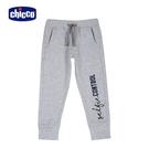 chicco-TO BE-英文字休閒束口長褲-灰