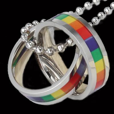 彩虹項鍊 316鋼 TP 蕾絲邊 同性 熊 BOTH LES GAY 和平 手鍊 手環 項鍊 沂軒精品 F0023