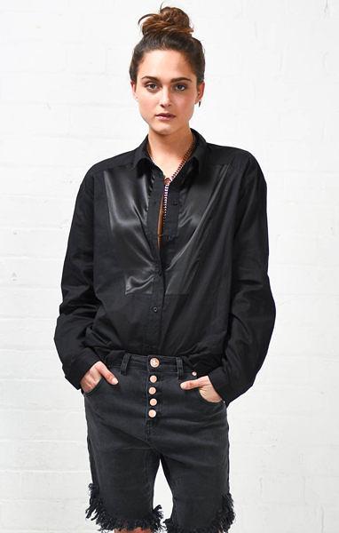 OneTeaspoon 長袖襯衫 BUTTON UP- 黑 - 女裝